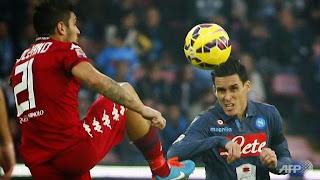 Napoli 3 - 3 Cagliari