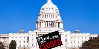 Congress with a closed sign in front