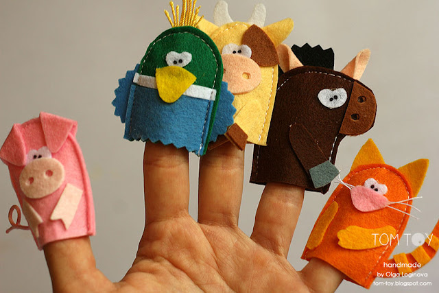 Handmade cloth quiet busy book for Sergio, felt puppets farm animals, развивающая книжка