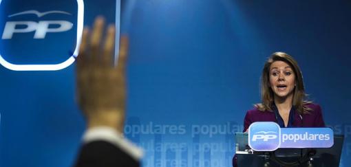 María Dolores de Cospedal (secretaria general del Partido Popular) sobre el caso Bárcenas