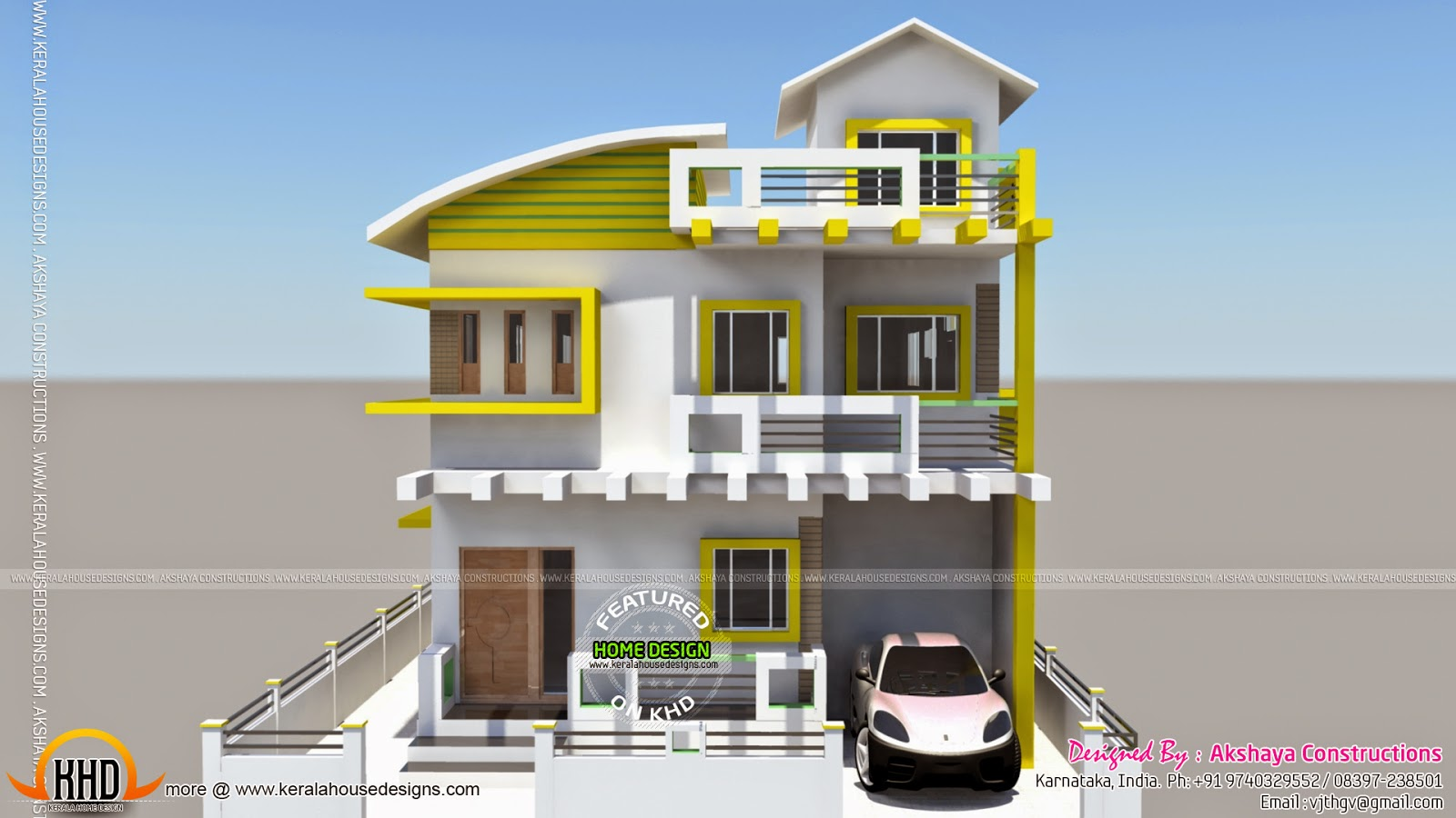 Karnataka home design kerala home design and floor plans for Home plans and designs