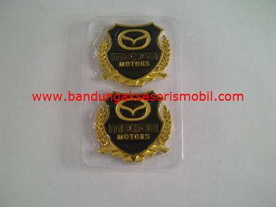 Logo Samping Exclusive Besi 2 Pcs Mazda Gold