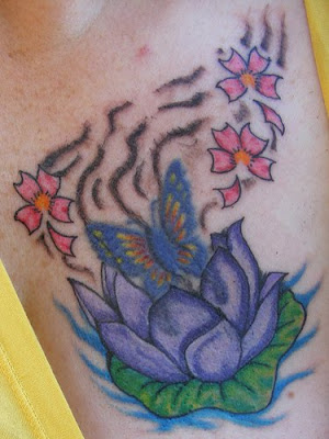 free design flower tiger lily tattoo