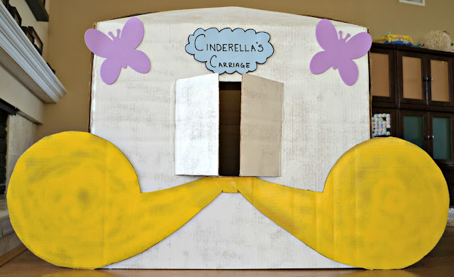 DIY Cinderella carriage #DisneyPrincessWMT