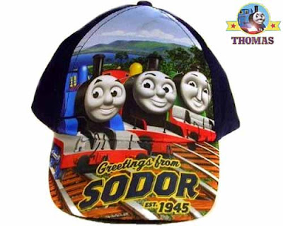 James Henry and Thomas the blue train Hat Baseball Cap Greetings from Sodor Island young men to wear