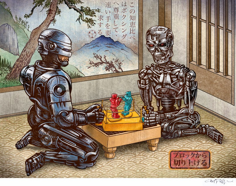 01-Robo-Cop-&-The-Terminator-Chet-Phillips-Childhood-Japanese-Styled-Illustrations-www-designstack-co