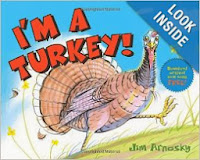 http://www.amazon.com/Im-Turkey-Jim-Arnosky/dp/0439903645/ref=sr_1_1?s=books&ie=UTF8&qid=1385209105&sr=1-1&keywords=i+am+a+turkey