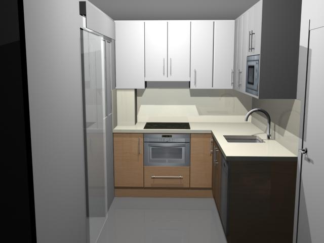 Little 3d creaci n 3d interiorismo de una cocina primer for Cocina de creacion