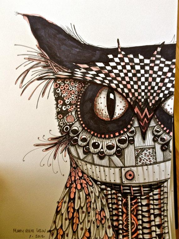 Cool owl drawings - photo#25