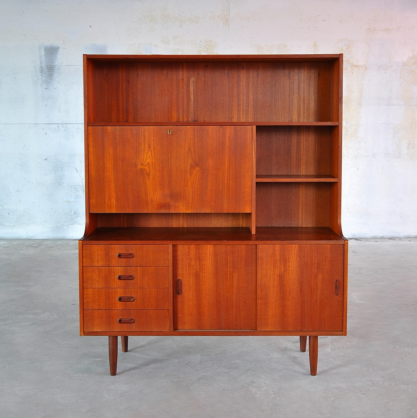 SELECT MODERN Danish Modern Bookcase Secretary Desk