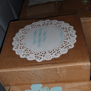 Christmas Package Doily Mailing Label