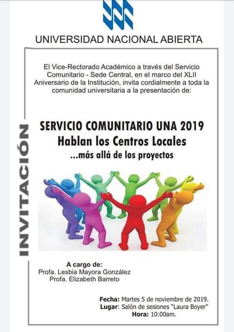 Servicio Comunitario 2019