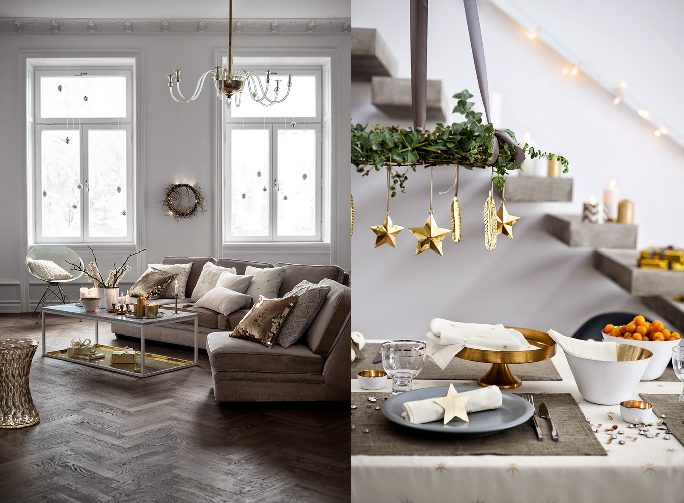 Decoraci n f cil tendencias navidad 2014 2015 segun h m home for Decoracion hogar tendencias 2015