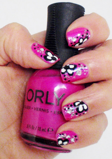 flower nail designs with orly polish