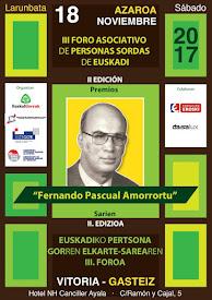 III Foro Asociativo de Personas Sordas de Euskadi y la Gala de los II Premios Fernando Pascual Amor