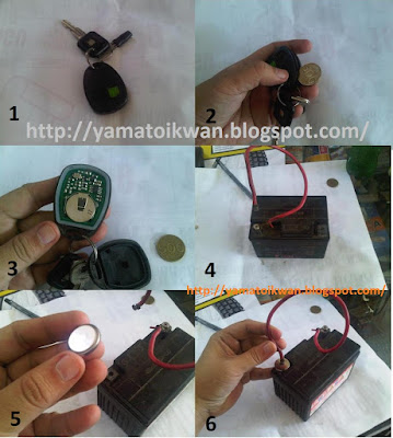 Mencharge baterai remote alarm