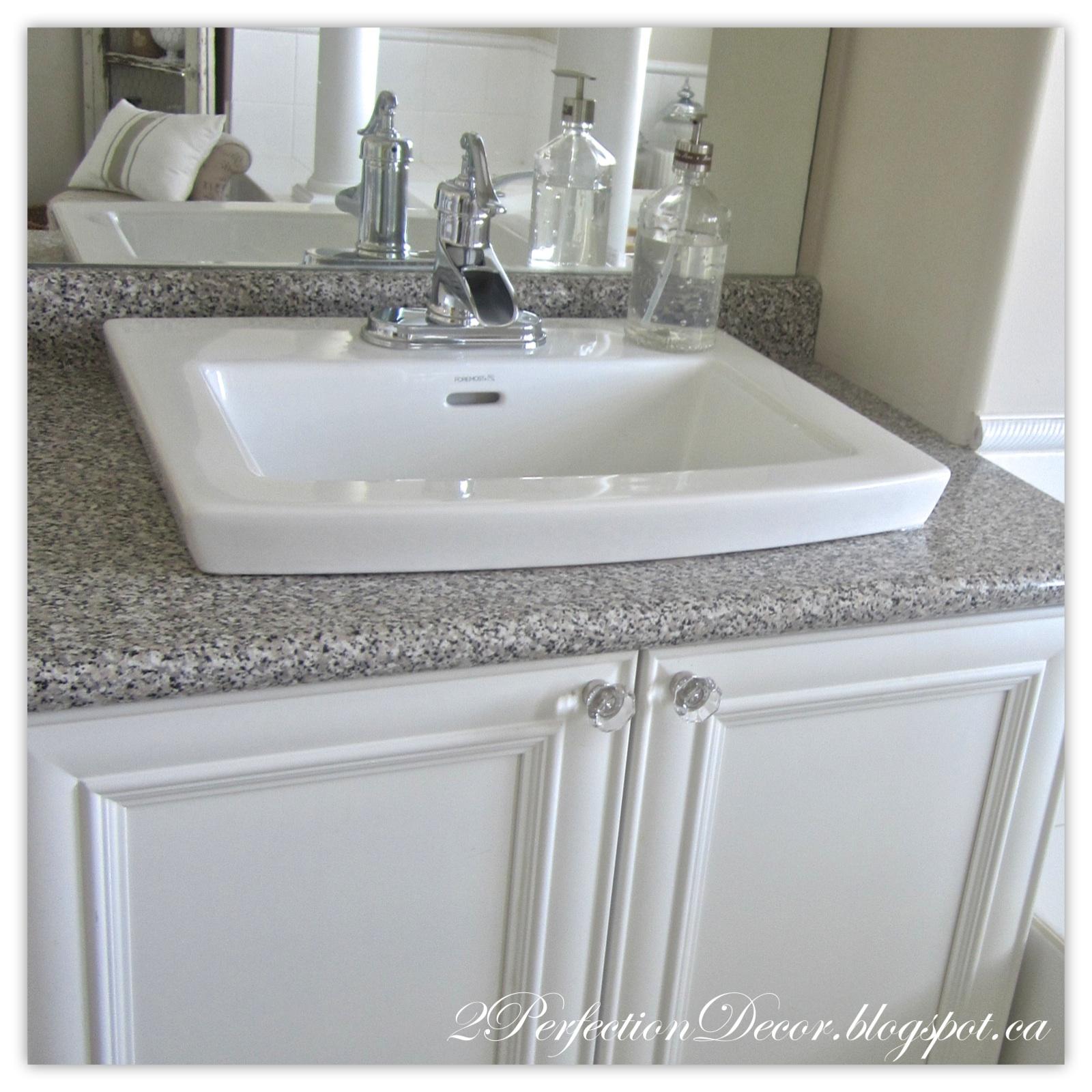 Cute Updating old Bathroom Sinks while re using old vanities