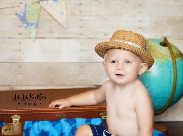 bon voyage baby in hat