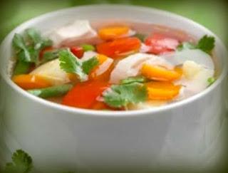 Sopa mediterránea de vegetales