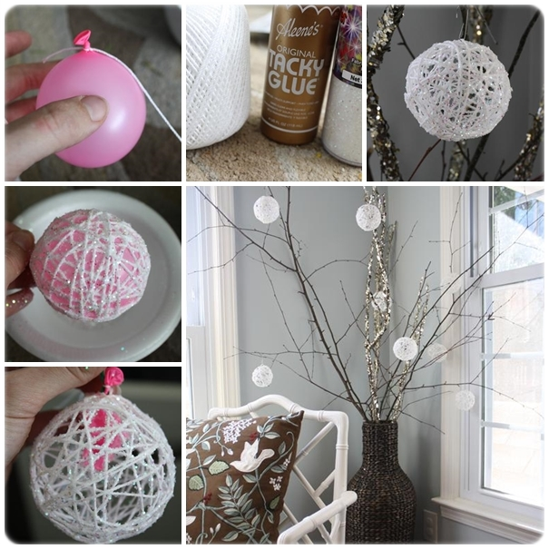 glittery snowball DIY