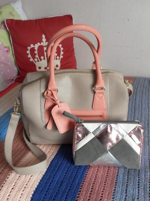 A picture of a Topshop handbag and makeup bag