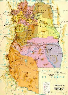 Mendoza Mapa Imagen