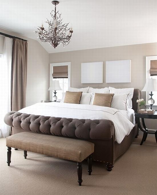 elegant brown bedroom