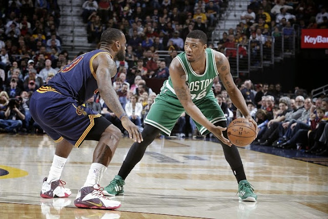 Celtics beat James and the Cavs, keep hold of 7th seed