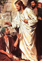jesus curando a un leproso