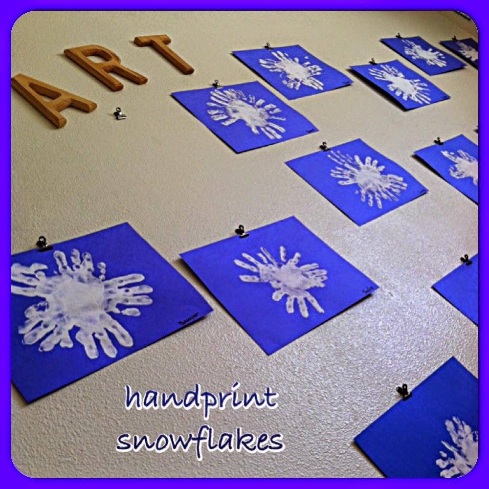 Let It SNOW Snowflake Crafts For Preschool