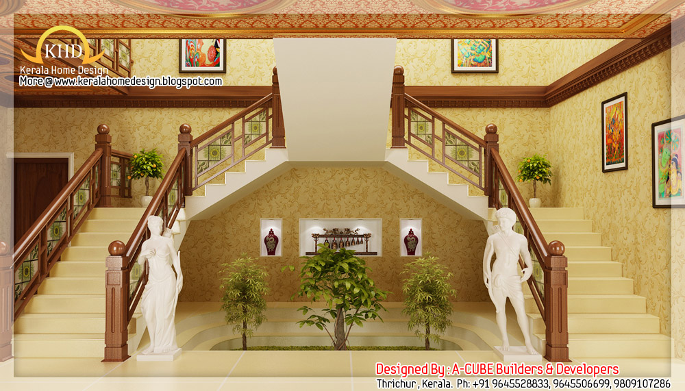 3D Interior renders - Kerala home design and floor plans