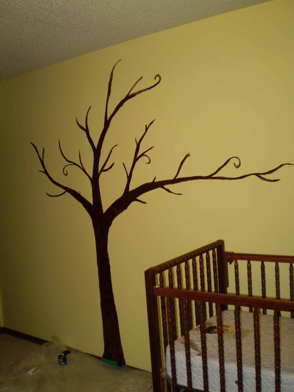 Down to sew a tree for baby 39 s room for Mural simple