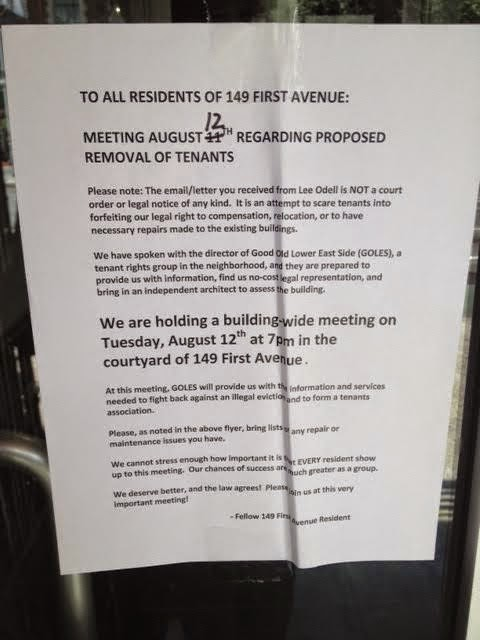 Ev grieve landlord tells residents of 149 first ave that they need meanwhile if the building is truly going to be gut renovatedcondemneddemolished etc then the landlord likely not need bother trying to fill the thecheapjerseys Image collections