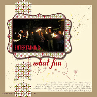 Firework Fun Digital Scrapbook Page made using MDS from Stampin' Up! Get a free Trial Here