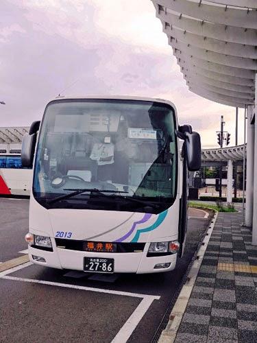 Nagoya-Fukui Highway Bus at Fukui Station