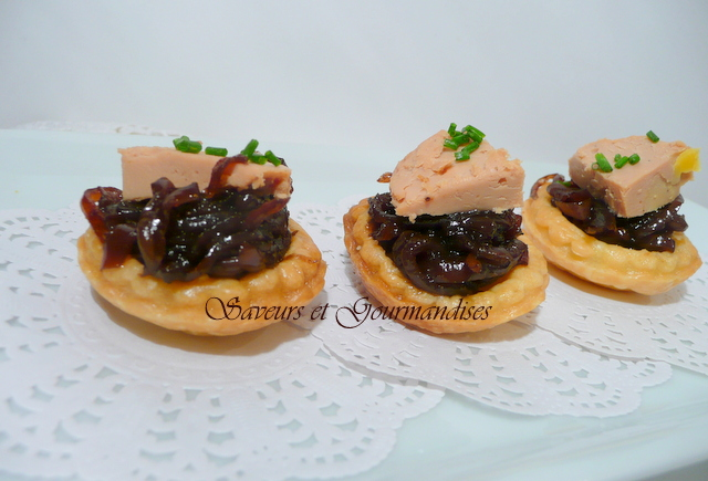 mini tartelettes au foie gras et au confit d oignons blogs de cuisine. Black Bedroom Furniture Sets. Home Design Ideas