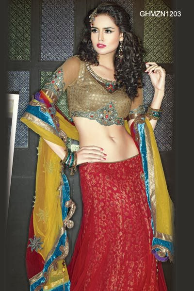 Lehnga Choli New 2013-14 Bridal Outfits For Women & Girls