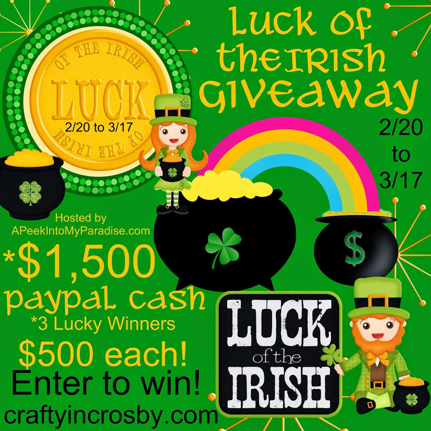 Enter the Luck Of the Irish Giveaway