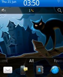mybbcurve9300, tema blackberry devil blackcats