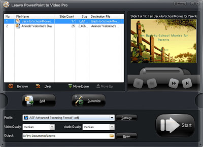 PowerPoint to Galaxy Mega 6.3 video converter