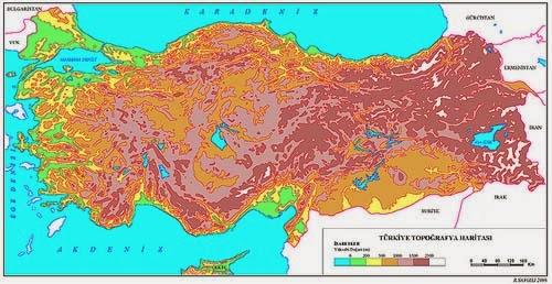 T�rkiye Topo�rafya Haritas�