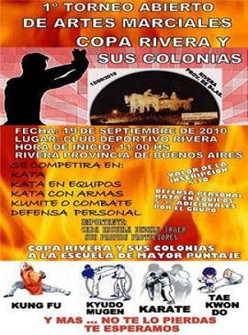 1º ABIERTO DE ARTES MARCIALES COPA RIVERA Y SUS COLONIAS (RIVERA 19/09/2010)