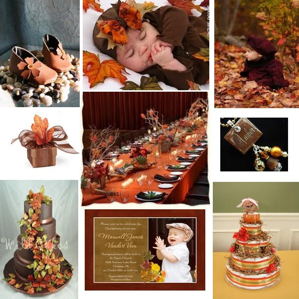 share is the backdrop for our baby shower theme fall foliage