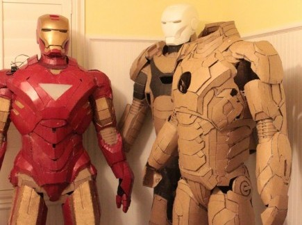 Geeky Mommy Building An Iron Man Suit From Cardboard