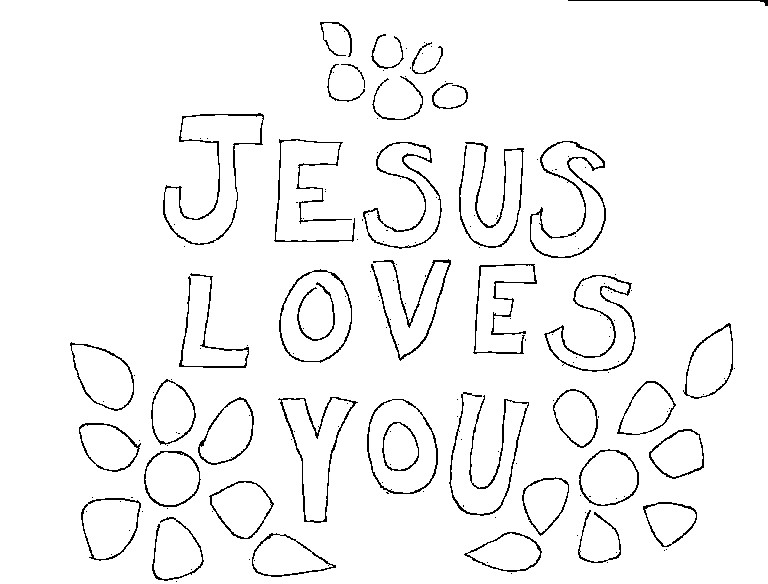 jesus loves you coloring pages - photo#1
