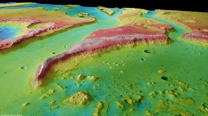 Permukaan Tiu Vallis - Planet Mars
