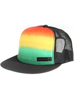 Gorra QuickSilver negro reggae