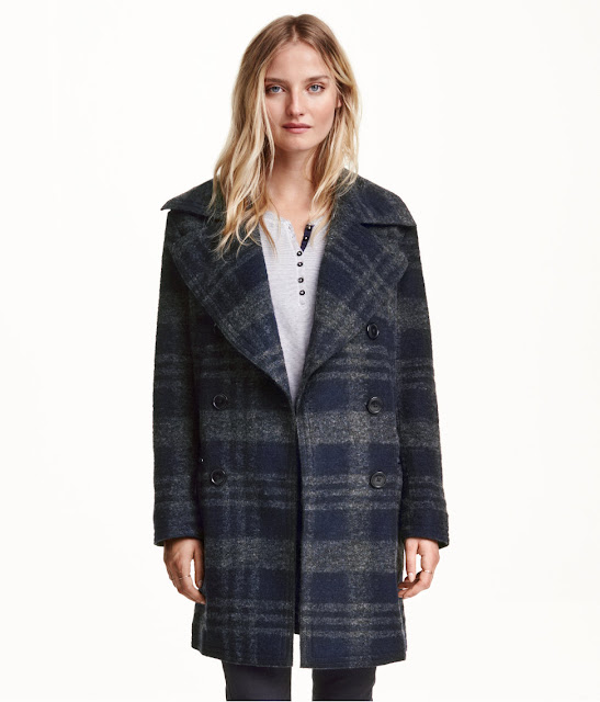 checked hm coat