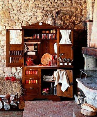 Decoraci N De Interiores La Cocina Con Muebles Campestres