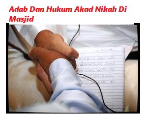 Akad Nikah Di Masjid